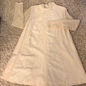 NWT lace A line panel dress